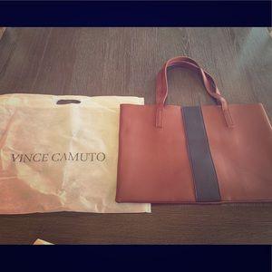 Vince Camuto vegan leather bag purse brown & black
